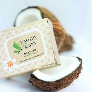 Earthy Sapo Milky Way Moisturizing Bathing Soap, 100g - Pack of 2