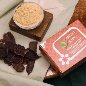 Earthy Sapo Shikakai & Multani Shampoo Bar, 100g - Pack of 2