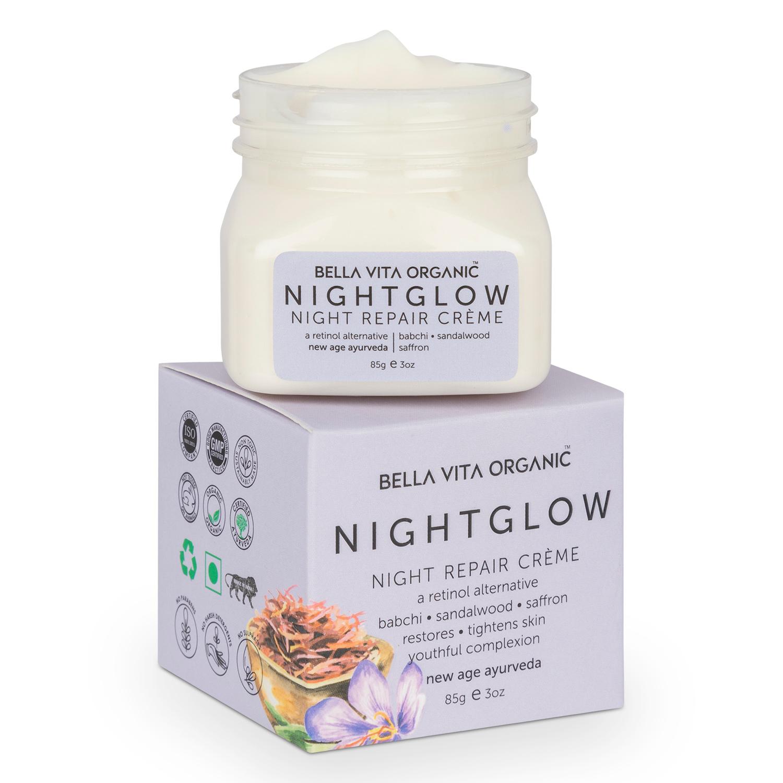Bella Vita Organic Night Glow Face Cream For Skin Repair