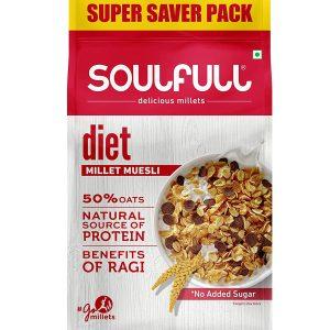 Soulfull Millet Muesli- Diet, No Added Sugar, 700 g