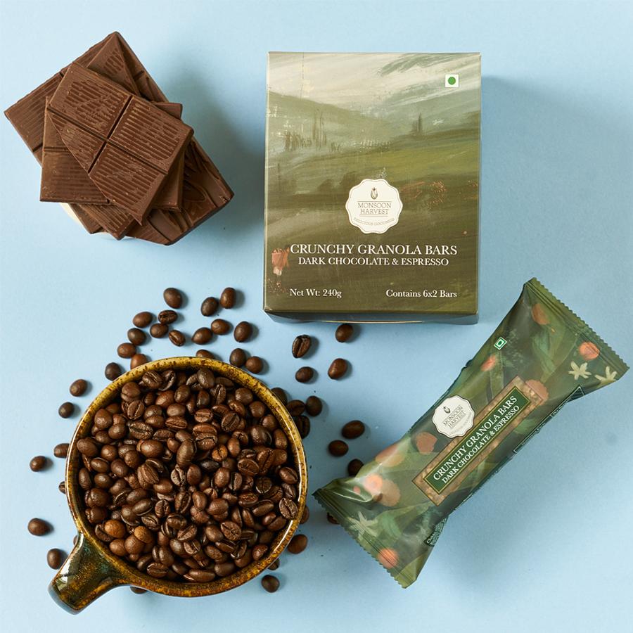Crunchy Granola Bars - Dark Chocolate & Espresso (Pack of 6)