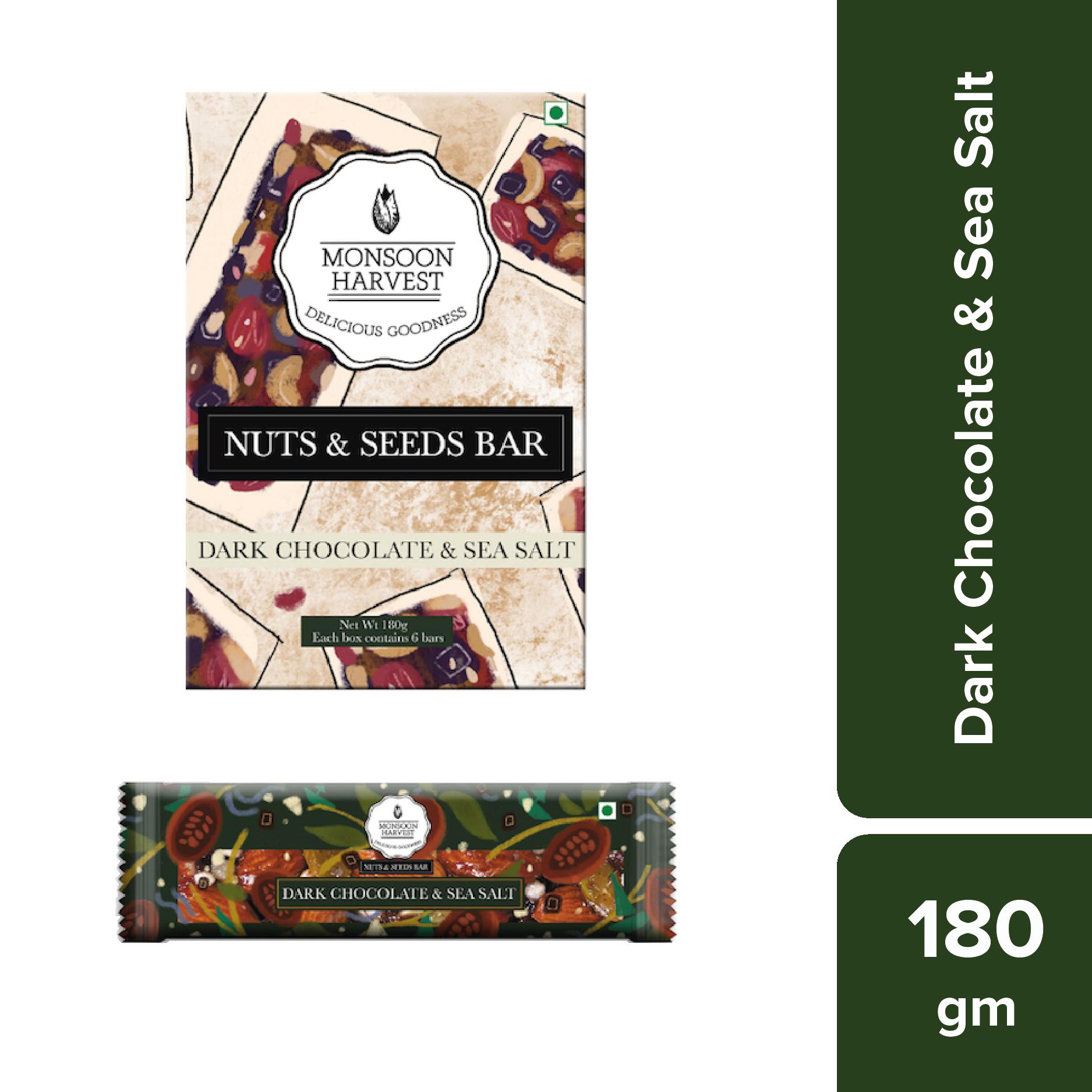Nuts & Seeds Bars - Dark Chocolate & Sea Salt (Pack of 6)