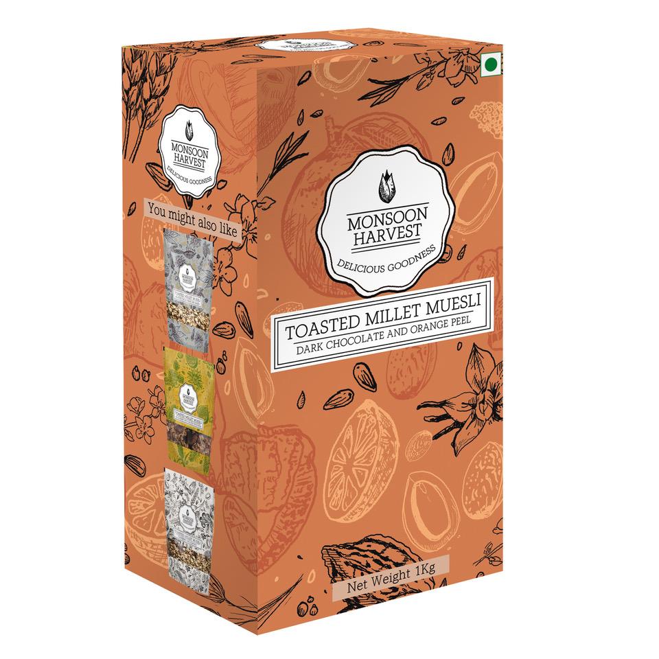 Toasted Millet Muesli - Dark Chocolate and Orange Peel, 1kg