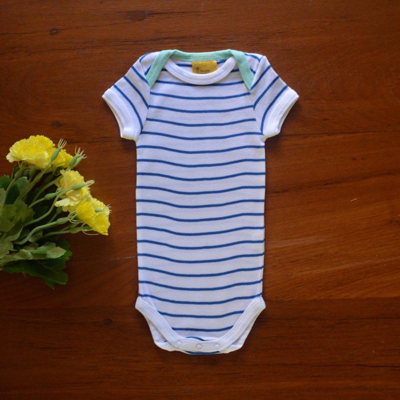 Striped Envelope-neck Bodysuit