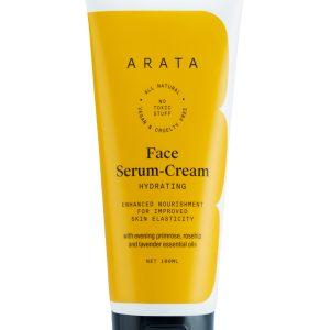 Arata Natural Hydrating Face Serum-Cream With Evening Primrose, Rosehip & Lavender Oil For Men & Women | All-Natural, Vegan & Cruelty-Free | Enhanced Nourishment For Improved Skin Elasticity - (100 ML)
