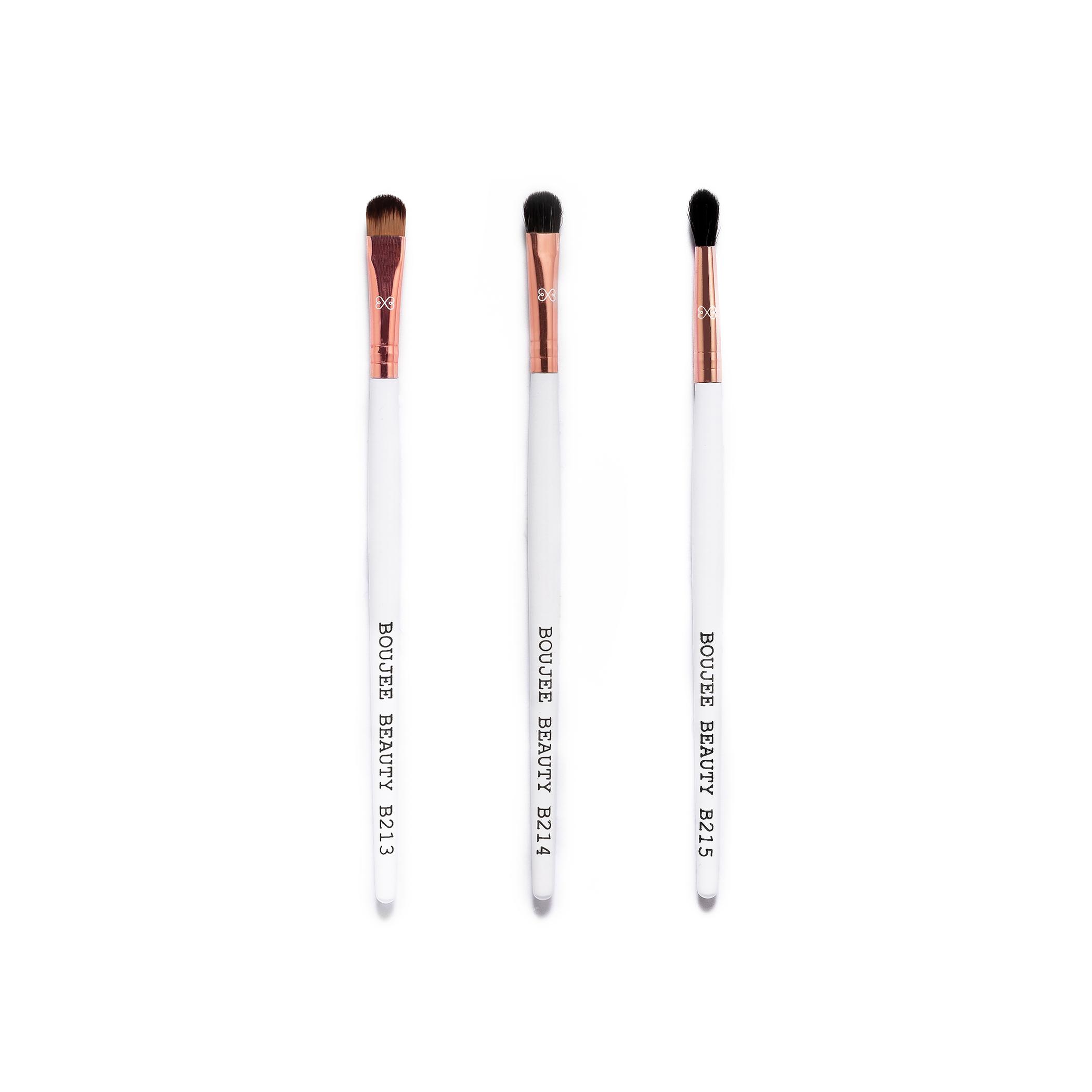 Boujee Beauty 3pcs. Precision Eye Brush Bundle