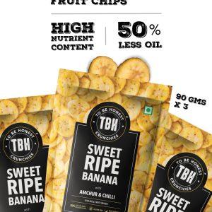 Sweet Ripe Banana Chips - Pack Of 3