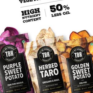 Purple Sweet Potato, Taro & Golden Sweet Potato Crunchies - Pack Of 3