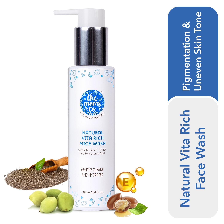 The Moms Co. Natural Vita Rich Face Wash (100 ml)