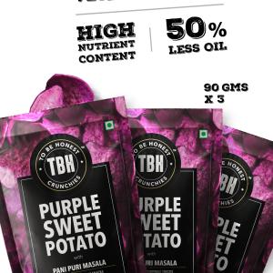 Purple Sweet Potato Crunchies - Pack Of 3