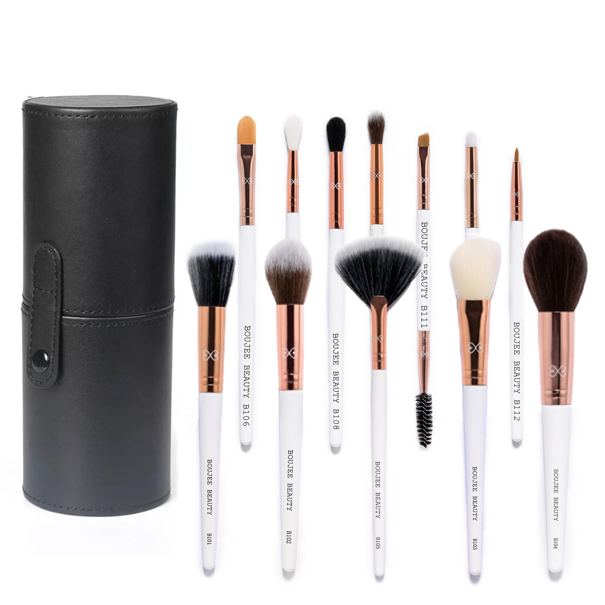 Boujee Beauty 12 Pcs. Professional Brush Set With Travel Case