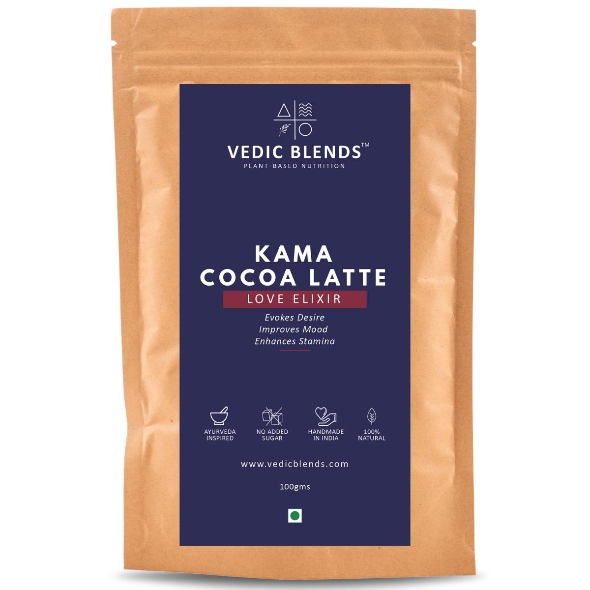 Kama Coca Latte by Vedic Blends | Desire, Mood, Stamina | 200g, 20 cups