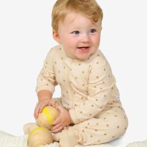 Lil StarDust Organic Zipup sleepsuit, Newborn upto 2 years