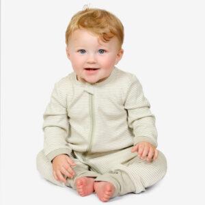 Lil Fern Organic Zipup Sleepsuit, Newborn-upto 2years