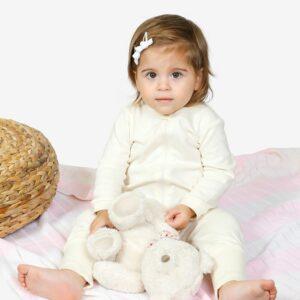 Lil Vanilla Organic Zipup Sleepsuit, Newborn- 2years