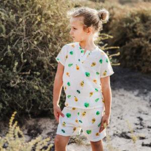 Poppet Pear Organic Muslin Shorts and Tee Set