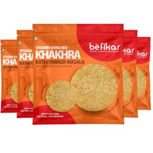 Kathiyawadi Masala Khakhra (Pack of 5)