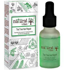 Natural Vibes ~ Ayurvedic Tea Tree Hair Repair Serum 30 ml ~ For treating dandruff, hairfall and damaged hair