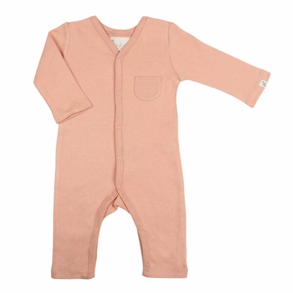 Full Sleeve Romper- Coral Blush
