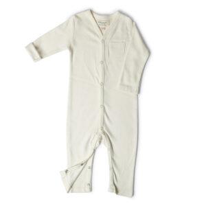 Full Sleeve Romper- Chalk White