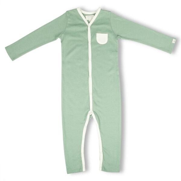 Full Sleeve Romper- Sage Green
