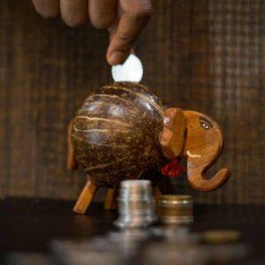 Coconut Shell Gullak - Gannu Bank