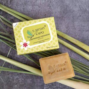 Earthy Sapo Lemongrass Freshness Bathing Soap, 100g - Pack of 2