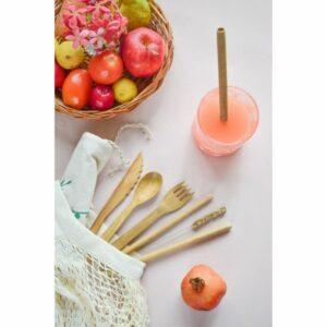 Bamboo Cutlery Pack of 1 - Handmade & Ecofriendly