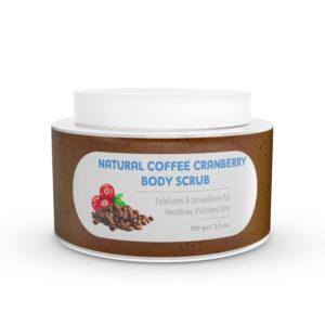 Natural Cranberry Coffee Body Scrub with Mono Carton 100 gm