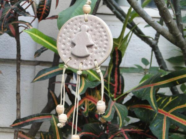 Hand made ceramic angel dreamcatcher