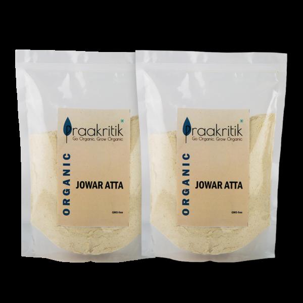 Praakritik Organic Jowar Atta (Pack Of 4)