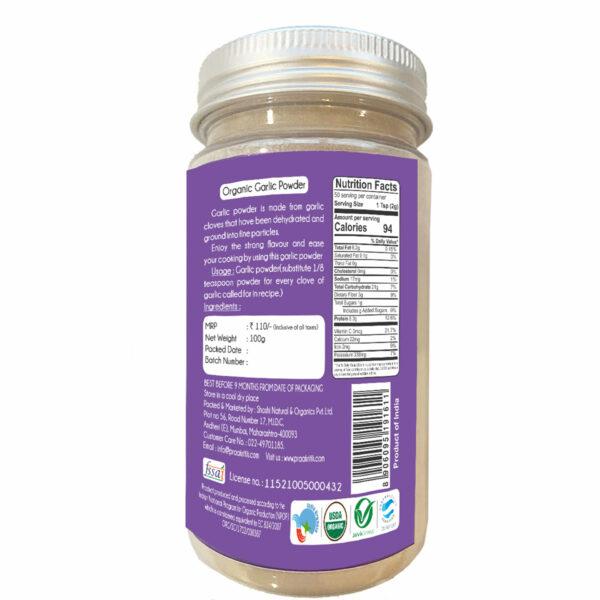 Praakritik Organic Garlic Powder (Pack Of 4)