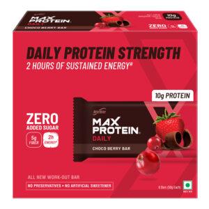 Ritebite Max Protein Daily Choco Berry Bars 300g - Pack of 6 (50g x 6)