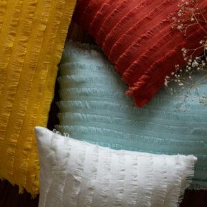 Myra Linen Fringed Cushion Cover - 30cm X 50cm