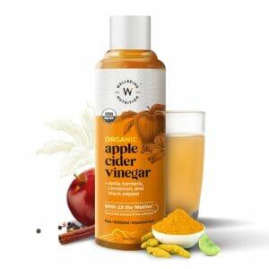 Wellbeing Nutrition USDA Organic Himalayan Apple Cider Vinegar (2X Mother) with Amla, Turmeric, Cinnamon & Black Pepper - 500ml