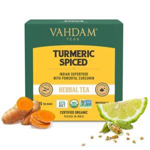 Organic Turmeric Spiced Herbal 15 Tea Bags - Detox Tea