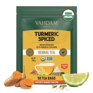 Organic Turmeric Spiced Herbal 50 Tea Bags - Detox Tea