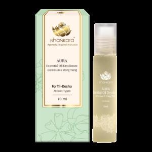 Aura Essential Oil Deodorant - Geranium & Ylang Ylang 10ml