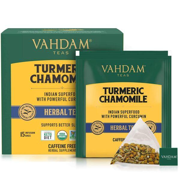 Organic Turmeric Chamomile 15 Tea Bags - Calming Tea