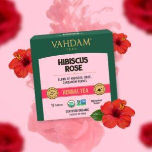 Organic Hibiscus Rose 15 Herbal Tea - Nourishing, Hydrating, Calming & Fragrant Rose