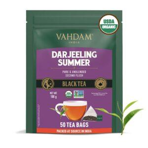 Organic Premium Darjeeling Black 50 Tea Bags - Single Estates, Second Flush
