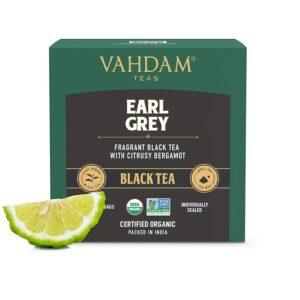 Organic Earl Grey Black Tea with Bergamot Oil 15 Tea Bags - Vitamin C Fortified