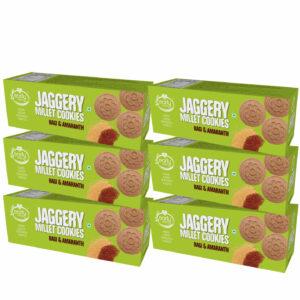 Pack of 6 - Ragi & Amaranth Jaggery Cookies