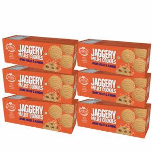 Pack of 6 - Jowar Almond Jaggery Cookies