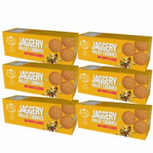 Pack of 6 - Dry Fruit & Seeds Jaggery Cookies