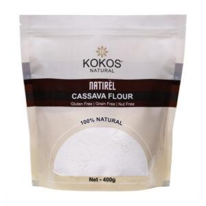 Kokos Natural Cassava Flour, 400g(Pack of 2)