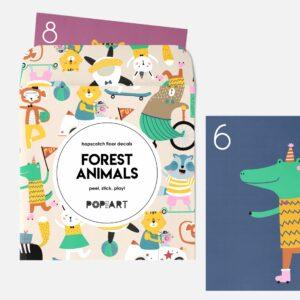 Hopscotch Floor Decals   Forest Animals