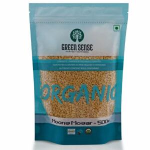 Green Sense Organic Green Gram Split Without Skin (Moong Mogar) - 500g