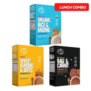 Combo of 3 Organic Millet Porridges - Lunch Cereal Combo for Kids