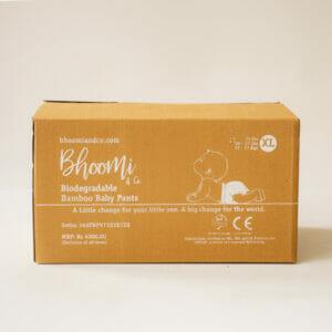 Bhoomi & Co Bio-Degradable Bamboo Baby Pants 72 Count XL